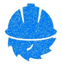 Circular blade safety grainy texture icon vector