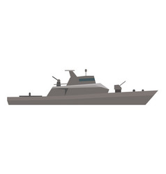 Coast guard cutter flat design vector