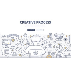 Creative process doodle design vector