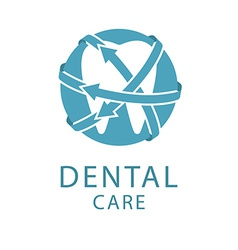 Dental logo shape tooth health care concept vector