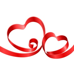 double hearts vector image