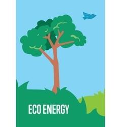 Eco energy banner Natural landscape vector image