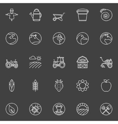 Farm icons collection vector image vector image