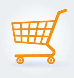 flat design shopping cart vector image vector image