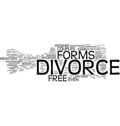 Free divorce forms text background word cloud vector