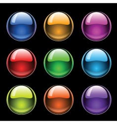 glass balls vector image vector image