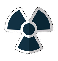 nuclear sign isolated icon vector image