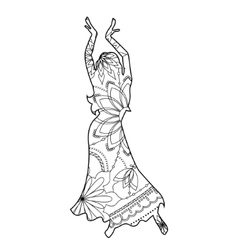 Oriental dancer coloring vector