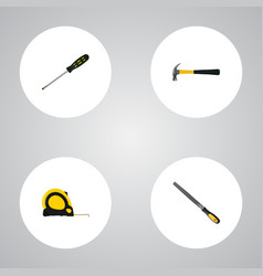 realistic claw length roulette carpenter and vector image vector image