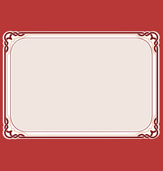 Red background and frame vector