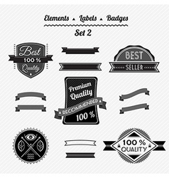 Set 2 elements labels and badges vector