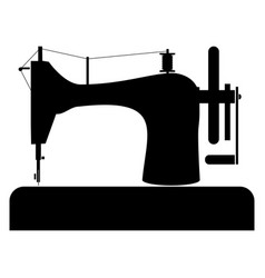 Sewing machine the black color icon vector