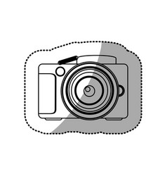 Silhouette technology professional camera icon vector