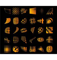 Various dots dynamic objects vector