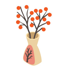 vase icon isometric style vector image
