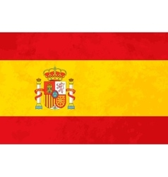 True proportions Spain flag with texture vector image