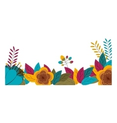 Tropical flowers and leaves design vector