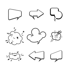 Set of many comic style speech bubbles vector