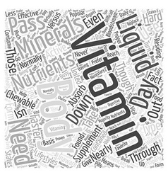 Liquid vitamins versus chewable vitamins word vector