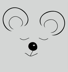 mouse sleep cute funny cartoon head vector image