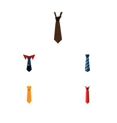 Flat icon necktie set of clothing tailoring vector
