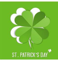 St Patrick Day sticker vector image
