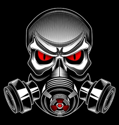 skull wearing a gas mask vector image