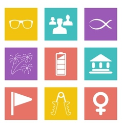 Color icons for web design set 33 vector