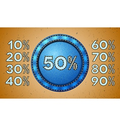 Jeans sale percent label vector