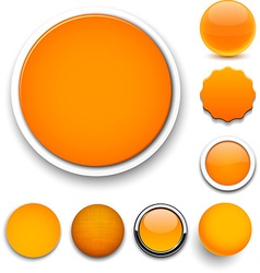 Round orange icons vector