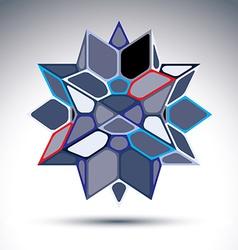3d precious stone indigo geometric stylish figure vector