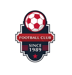 Soccer football badge vector