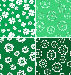 Green nature pattern 4 style vector