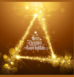 Gold christmas stars vector