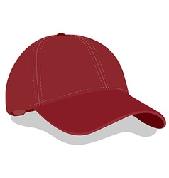 Red baseball cap vector