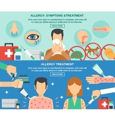 Allergy banner set vector