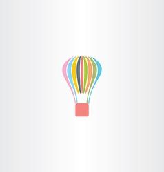 colorful parachute logo icon vector image