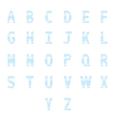 Blue watercolor alphabet set1 vector