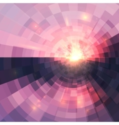 Abstract pink circle technology mosaic background vector