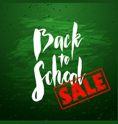 Back to school sale banner design vector