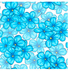 beautiful seamless pattern with blue flowers daisy vector image vector image