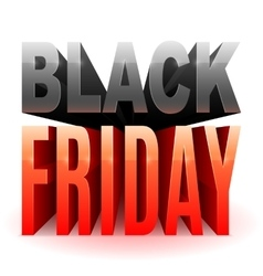 Black Friday 3D Text vector image
