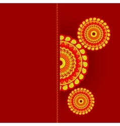 card invitation sale mandala vector image vector image