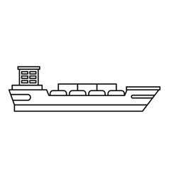 Cargo ship icon outline style vector image vector image