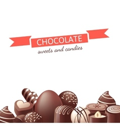 Chocolate sweets and candies vector image vector image