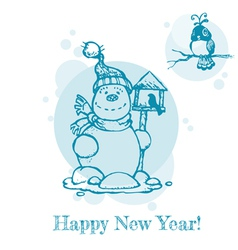 Christmas or New Year Card vector image vector image