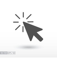 Click flat icon vector
