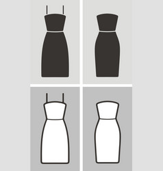 Dress set vector