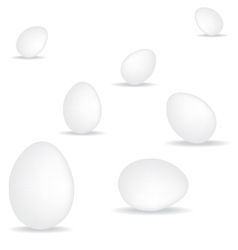 egg on white background vector image