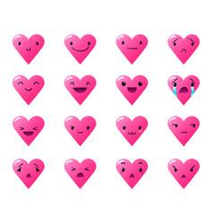 Emoticons heart gradient 4 vector